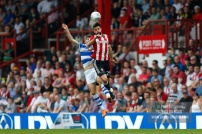 21/04/2018. Brentford v Queens Park Rangers SkyBet Championship Action from Griffin Park. Brentford's Yoann BARBET