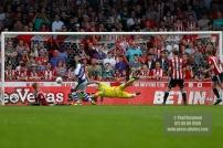 21/04/2018. Brentford v Queens Park Rangers SkyBet Championship Action from Griffin Park. QPR's Idrissa SYLLA scores