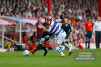 21/04/2018. Brentford v Queens Park Rangers SkyBet Championship Action from Griffin Park. QPR's Goalkeeper Matt INGRAM injured