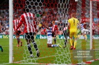 21/04/2018. Brentford v Queens Park Rangers SkyBet Championship Action from Griffin Park. QPR's Idrissa SYLLA really wants a penalty