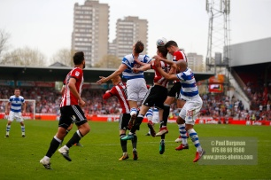 21/04/2018. Brentford v Queens Park Rangers SkyBet Championship Action from Griffin Park.