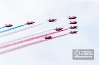 21/07/2018 Pictures from Farnborough International Airshow. Red Arrows