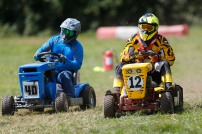22/06/2019 From Paul Burgman/Press-Photos.com. Action from the British Lawn Mower Racing from Newdigate, Surrey. Les Pantry (12), Stuart Wright (40)