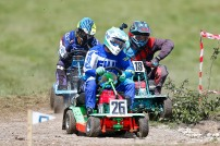 22/06/2019 From Paul Burgman/Press-Photos.com. Action from the British Lawn Mower Racing from Newdigate, Surrey. Daniel Jones (26) & Sean Tanswell (18)