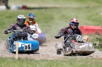 22/06/2019 From Paul Burgman/Press-Photos.com. Action from the British Lawn Mower Racing from Newdigate, Surrey. Roger Knowlson (70) & Reginald Funnell