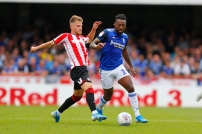 03/08/2019 From Paul Burgman/Press-Photos.com. Brentford v Birmingham City in the Championship. CityÕs Midfielder Jacques Maghoma on the charge