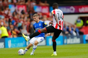 03/08/2019 From Paul Burgman/Press-Photos.com. Brentford v Birmingham City in the Championship. CityÕs Midfielder Dan Crowley