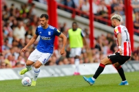 03/08/2019 From Paul Burgman/Press-Photos.com. Brentford v Birmingham City in the Championship. City's Defender Maxime Colin & Brentford's Midfielder Emiliano Marcondes