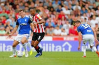 03/08/2019 From Paul Burgman/Press-Photos.com. Brentford v Birmingham City in the Championship. CityÕs Midfielder Gary Gardner & Brentford's Ethan Pinnock